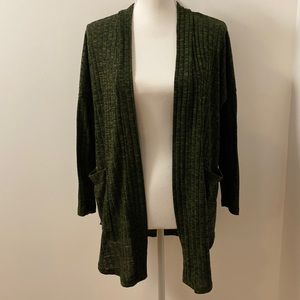 Long Sleeved Open Front Cardigan with Pocket-Small